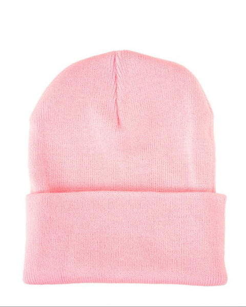 Persons Classic Knit Beanie in Pink