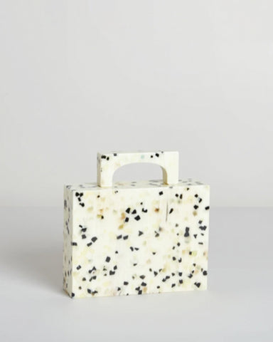 Respiro Studio Alexa Bag in White Dalmation