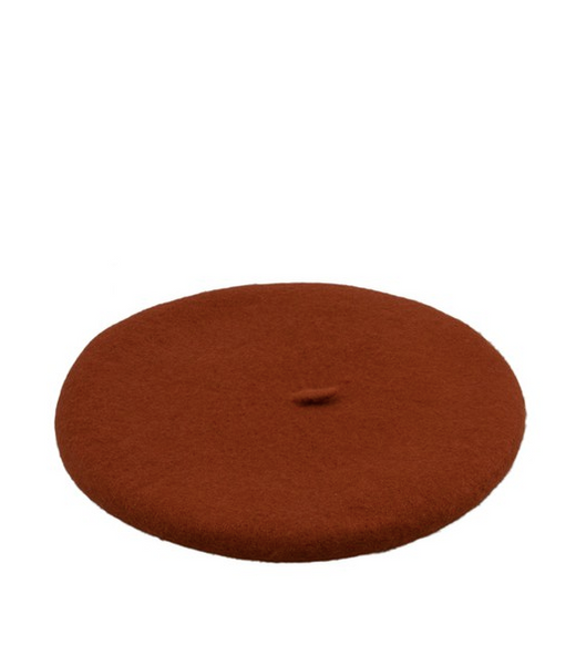 Persons Felted Wool Beret in Brick