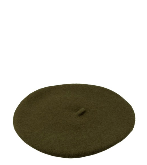 Persons Felted Wool Beret in Olive