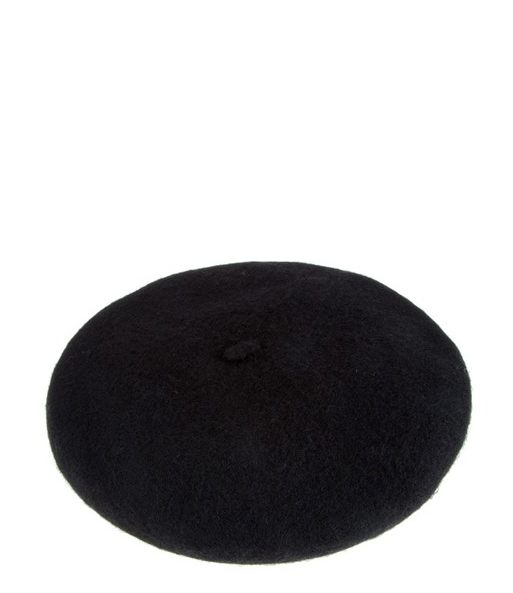 Persons Felted Wool Beret in Black