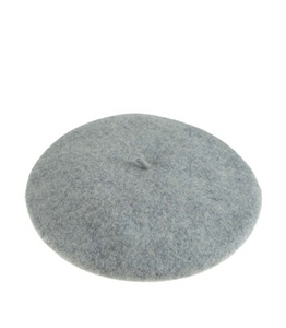 Persons Felted Wool Beret in Heather