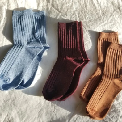 glitter her socks in sky from le bonne shoppe available at lahn