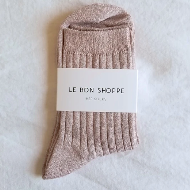 glitter her socks in rose glitter from le bon shoppe available at lahn