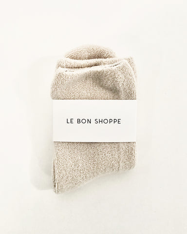 cloud socks in ecru from le bon shoppe available at lahn