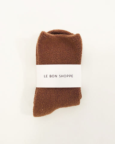 cloud socks in sepia from le bon shoppe available at lahn