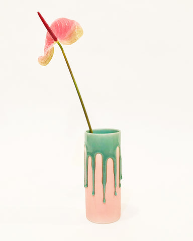 drip vase in pink from muluni available at lahn