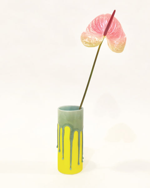 drip vase in yellow from muluni available at lahn