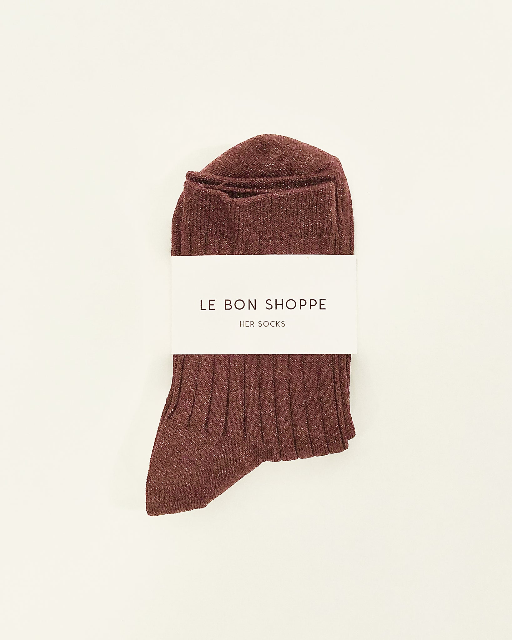 glitter her socks in bronze from le bon shoppe available at lahn