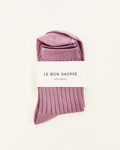 her socks in orchid from le bon shoppe available at lahn