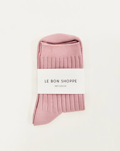 her socks in desert rose from le bon shoppe available at lahn