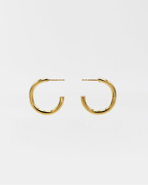 IDAMARI Lamé Hoop Earrings - Gold, available at LAHN