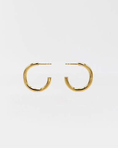 IDAMARI Lamé Hoop Earrings in 18k Gold Plated Sterling Silver
