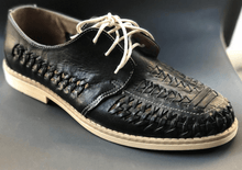 Load image into Gallery viewer, Mens Leather Mexican Shoes. Zapatos de Hombre, Black Color