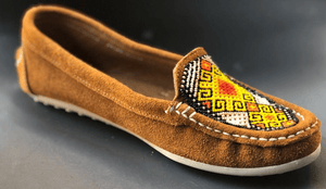 Womens Pocahantas style Leather Mexican brown Shoes