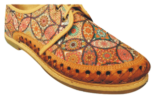 Womens Leather Mexican unique butterfly printed  material. Shoe, Colorful handmade original