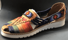Load image into Gallery viewer, Womens Leather Mexican Colorful Sandals. Huarache, Colorful handmade original