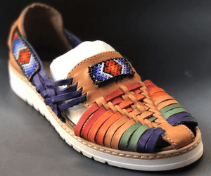 Womens Leather Mexican Colorful Sandals. Huarache, Colorful handmade original