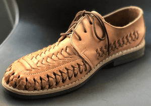 Mens Leather Mexican Shoes. Zapatos de Hombre, Tan Color