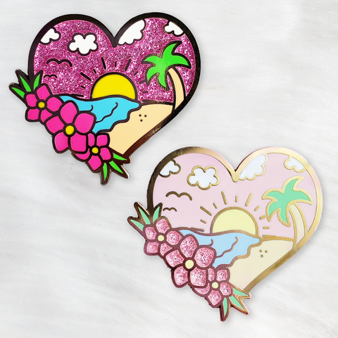 ♡ Beach Daze Enamel Pin ♡