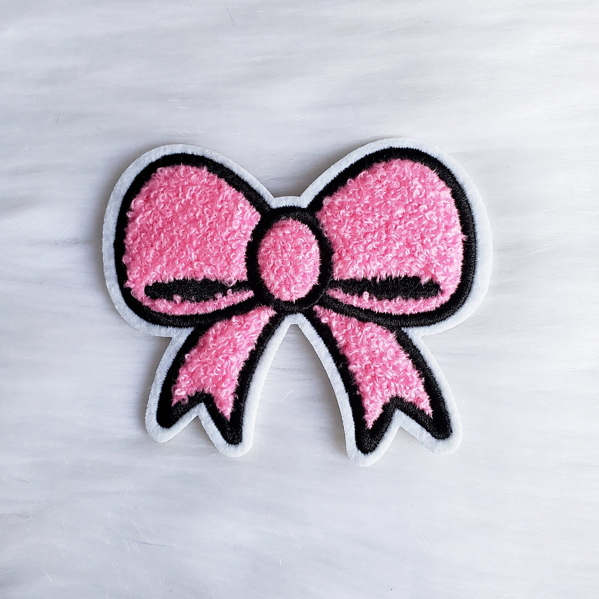 ♡ Fluffy Bow Iron-On Patch ♡