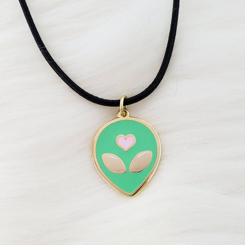 ♡ Cute Alien Necklace ♡