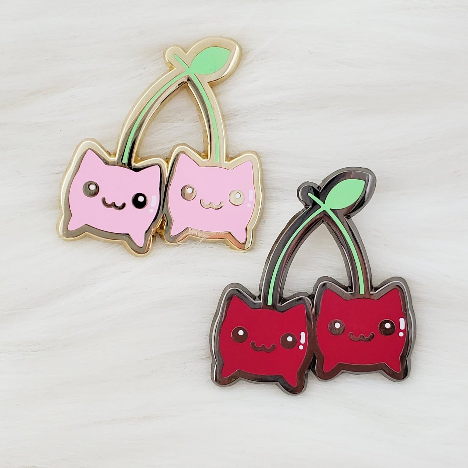 ♡ Cherry Kitty Enamel Pin ♡