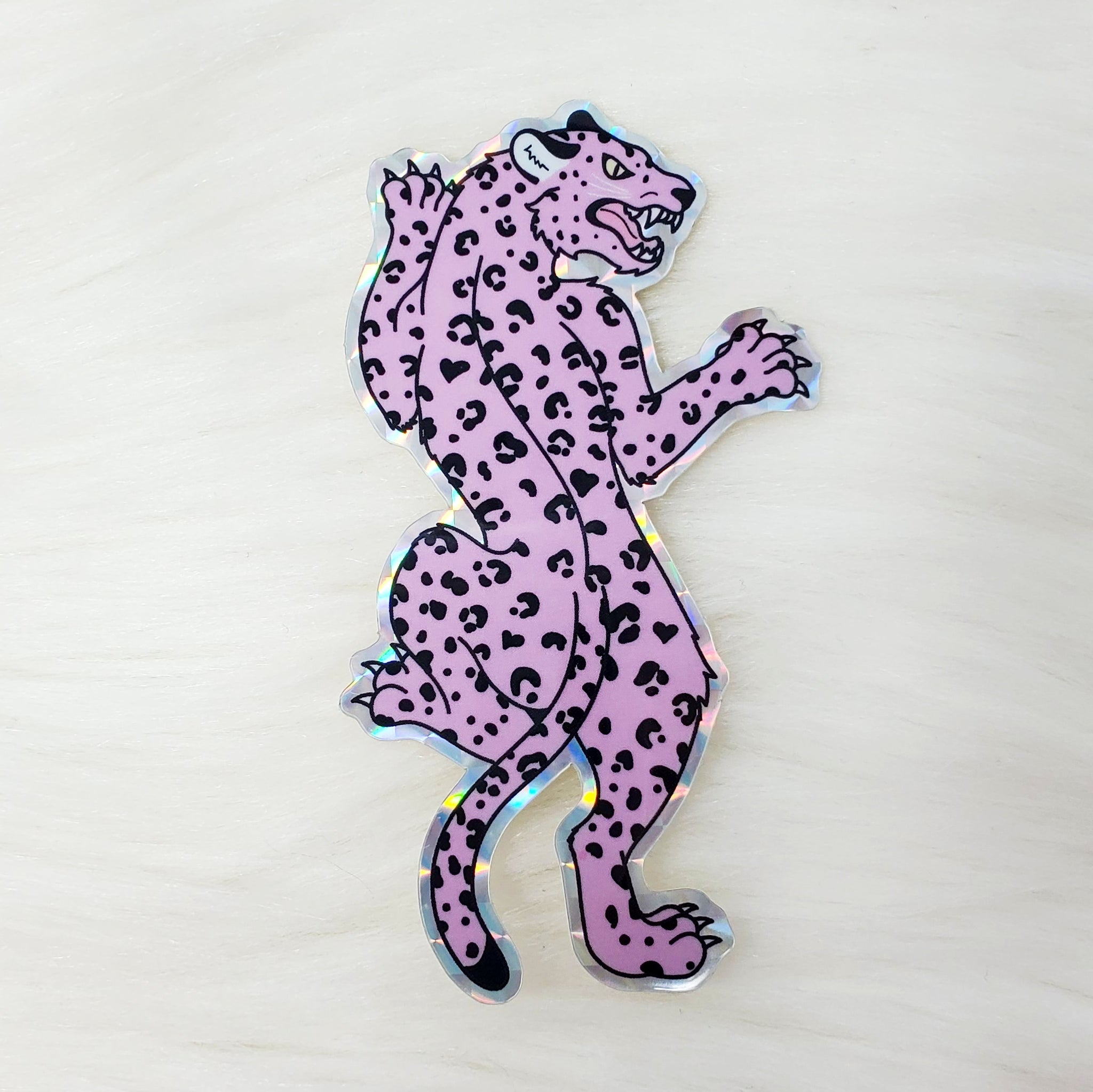 ♡ HOLOGRAPHIC Leopard Sticker ♡
