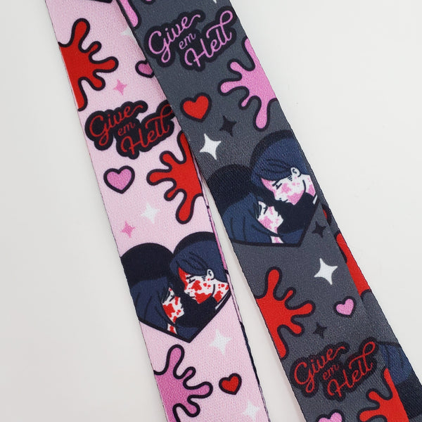 ♡ Give 'em Hell Lanyard ♡