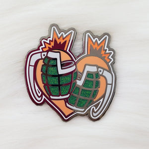 ♡ Explosion Boy Heart Enamel Pin ♡