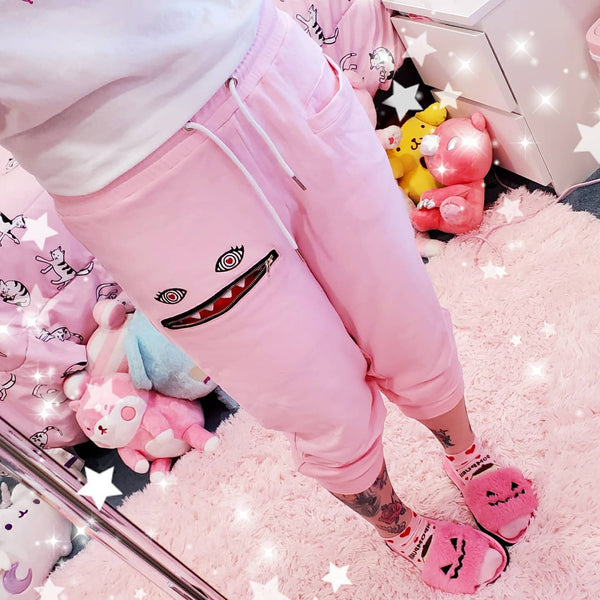 ♡ LIMITED EDITION Pink Monster Baby Lounge Pants ♡