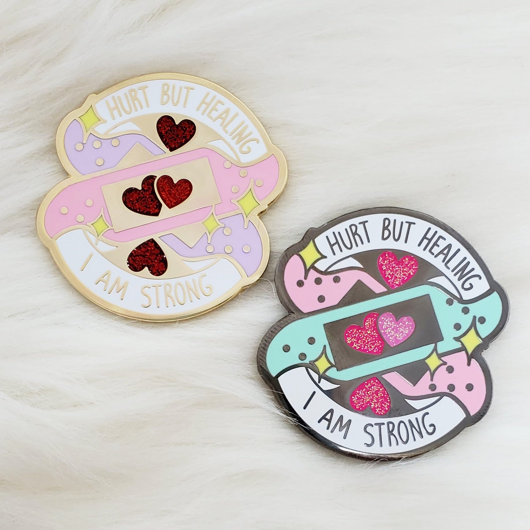 ♡  HMC Hurt but Healing Enamel Pin ♡