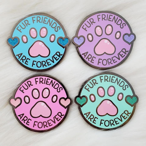 ♡ Fur Friends are FOREVER! Enamel Pin ♡