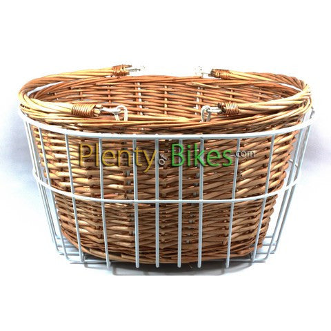 Reid Vintage Double Wire & Wicker Basket - Plenty of Bikes
