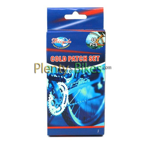 Bicycle Cold Patch Repair Kit - 48 pc - Plenty of Bikes