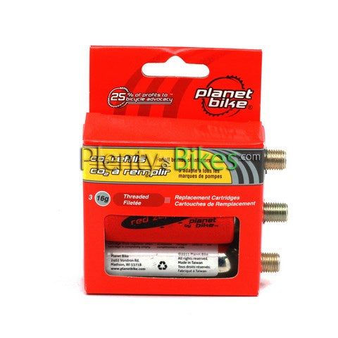 Planet Bike Threaded CO2 16g Refills 3-Pack