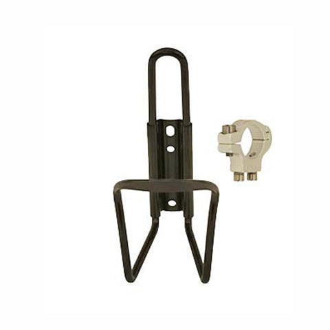Alloy Water Bottle Cage w/ Handlebar Mount - Plenty of Bikes