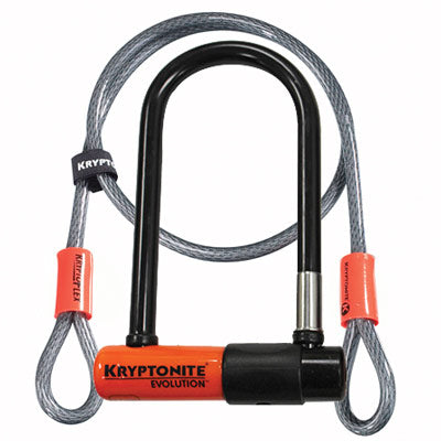 Kryptonite Evolution Mini 7 U-Lock & 4x10mm Cable