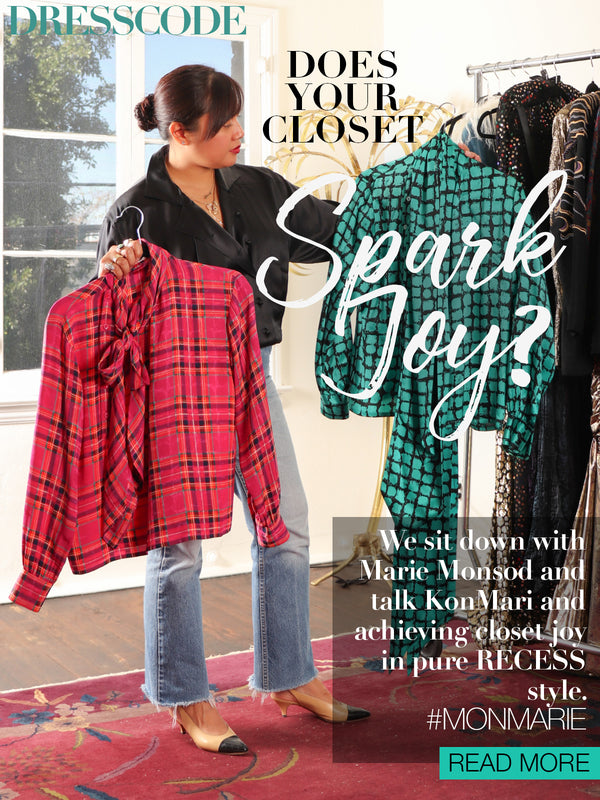 Recess Los Angeles Vintage Designer Consignment Marie Monsod KonMari Kondo Tidy Up