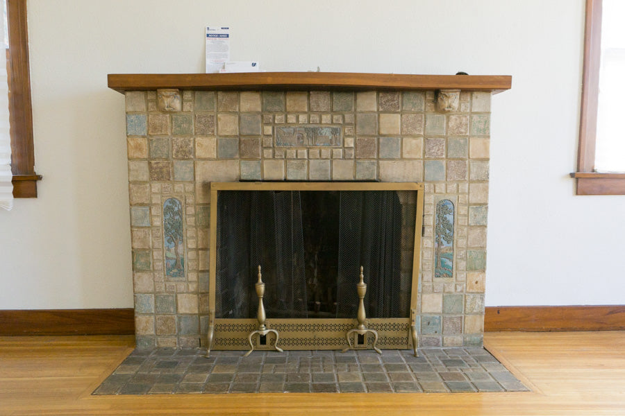 recess flip highland house living room fireplace