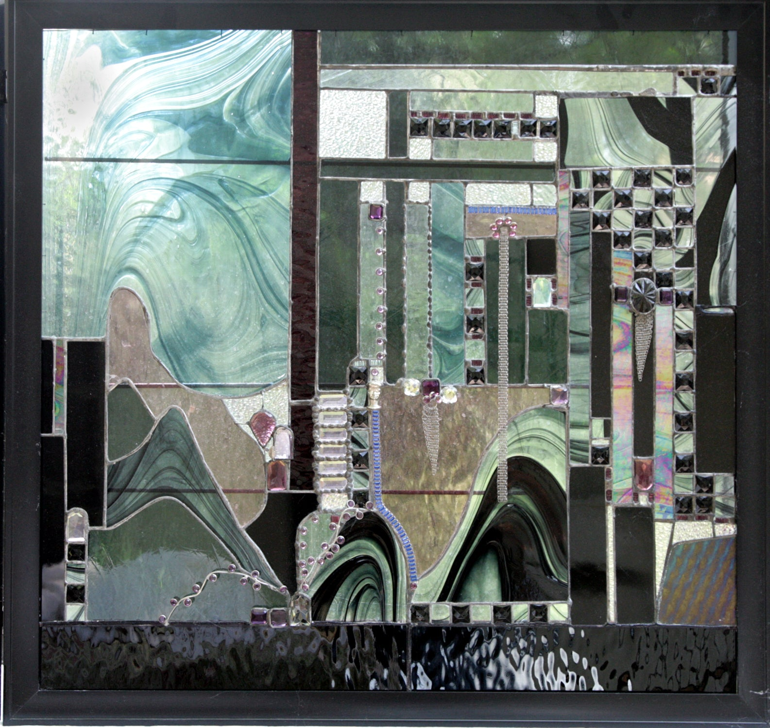 Anthony Ferrara Recess Los Angeles Designer Vintage Consignment Stained Glass Art