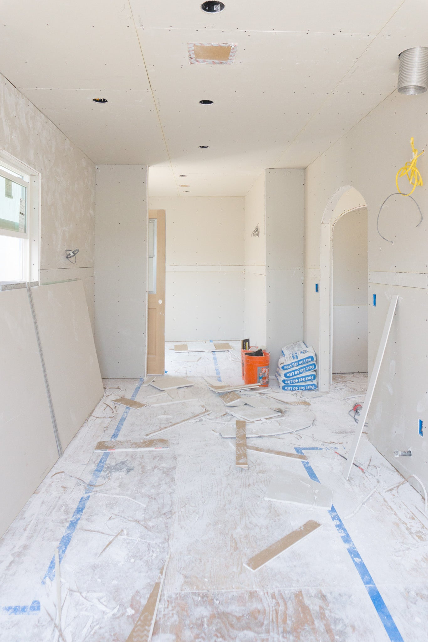 Recess Flip Highland Park House Drywall Installation Kitchen