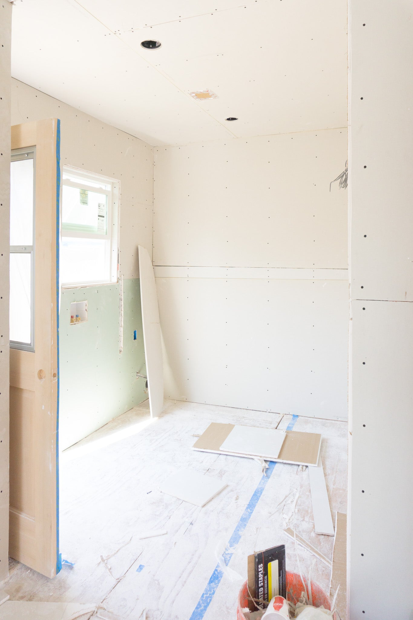 Recess Flip Highland Park House Drywall Installation Laundry Room