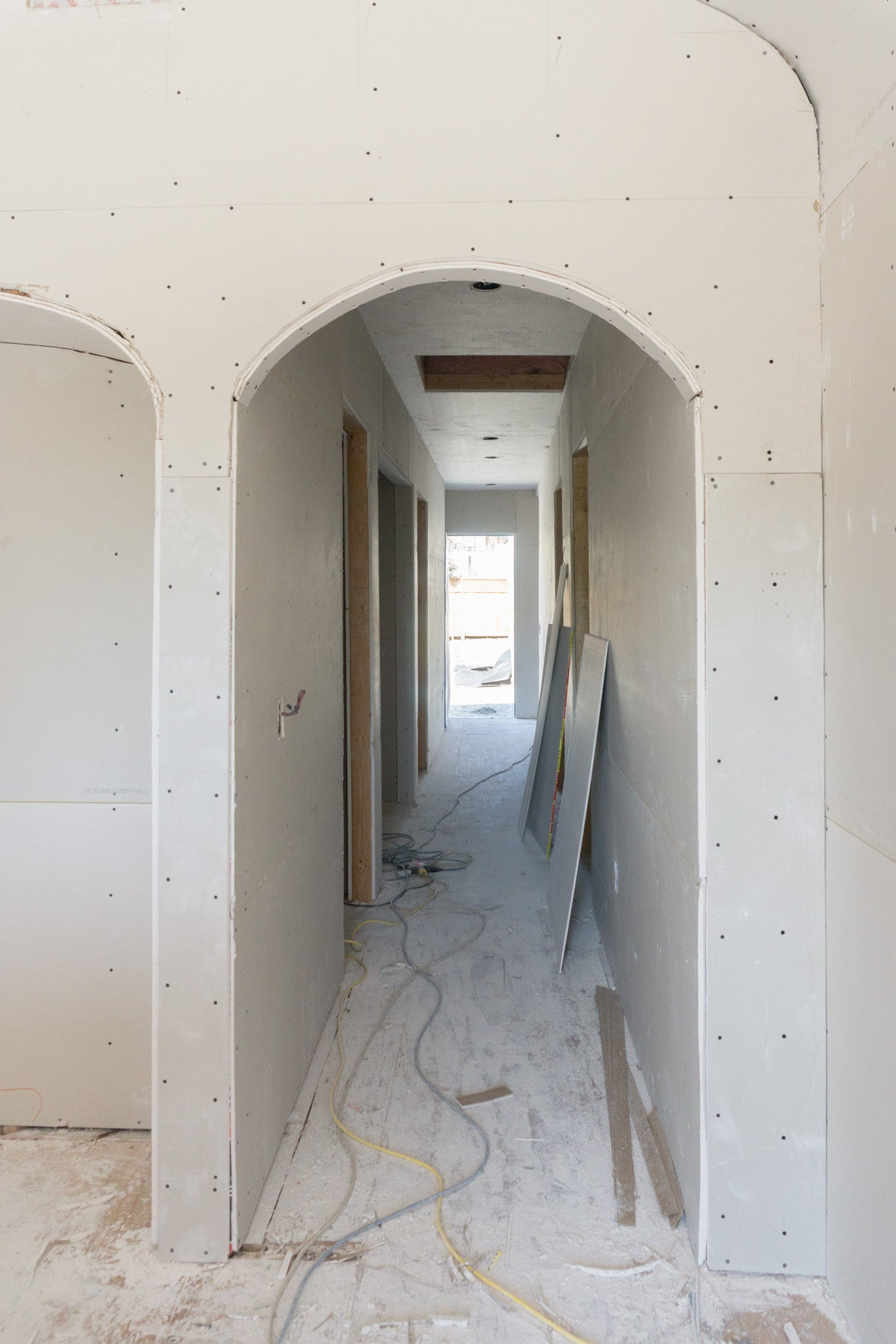 Recess Flip Highland Park House Drywall Installation Hallway Curves