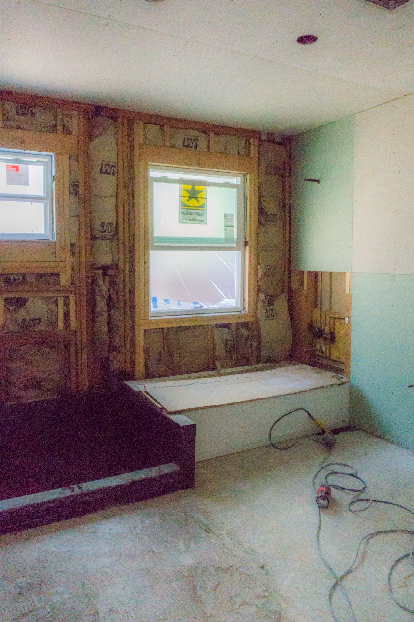 Recess Flip Highland Park House Drywall Installation Master Bath