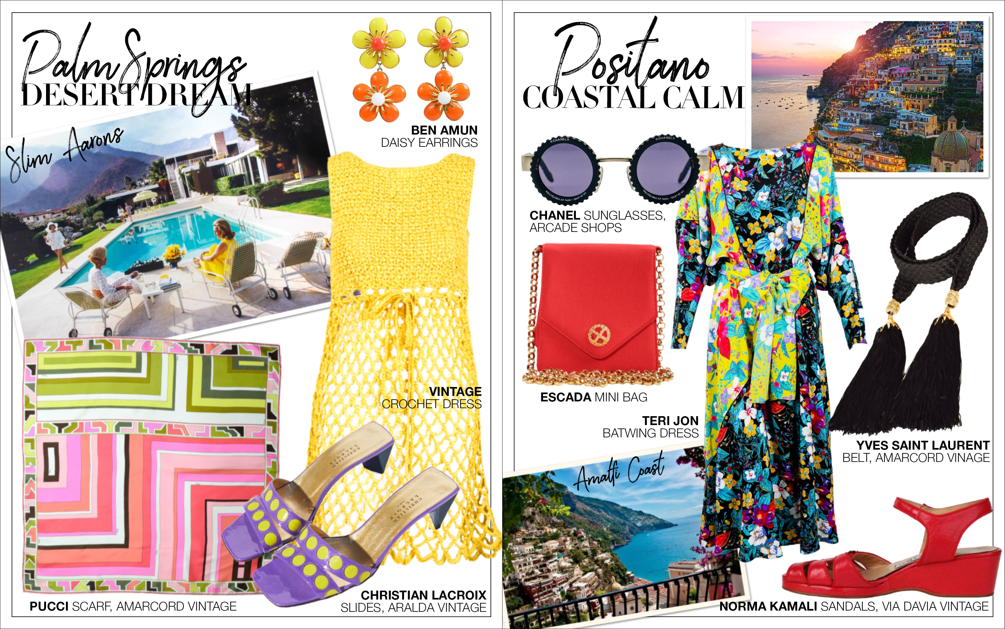 Recess DressCode Escapism Covid Quarantine Fantasy Travel Shopping Guide Palm Springs Positano