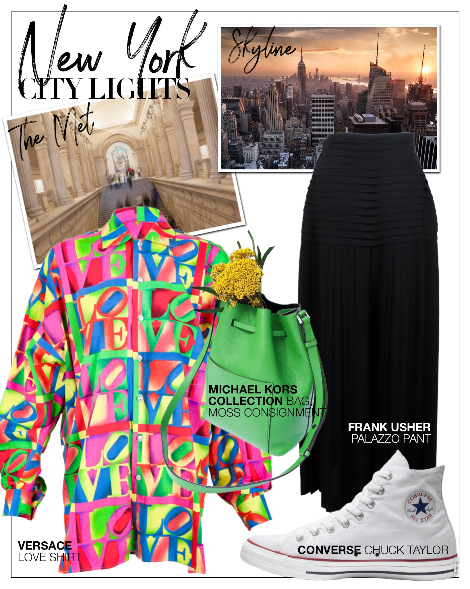 Recess DressCode Escapism Covid Quarantine Vacation Dreams New York City Lights Versace Love Shirt