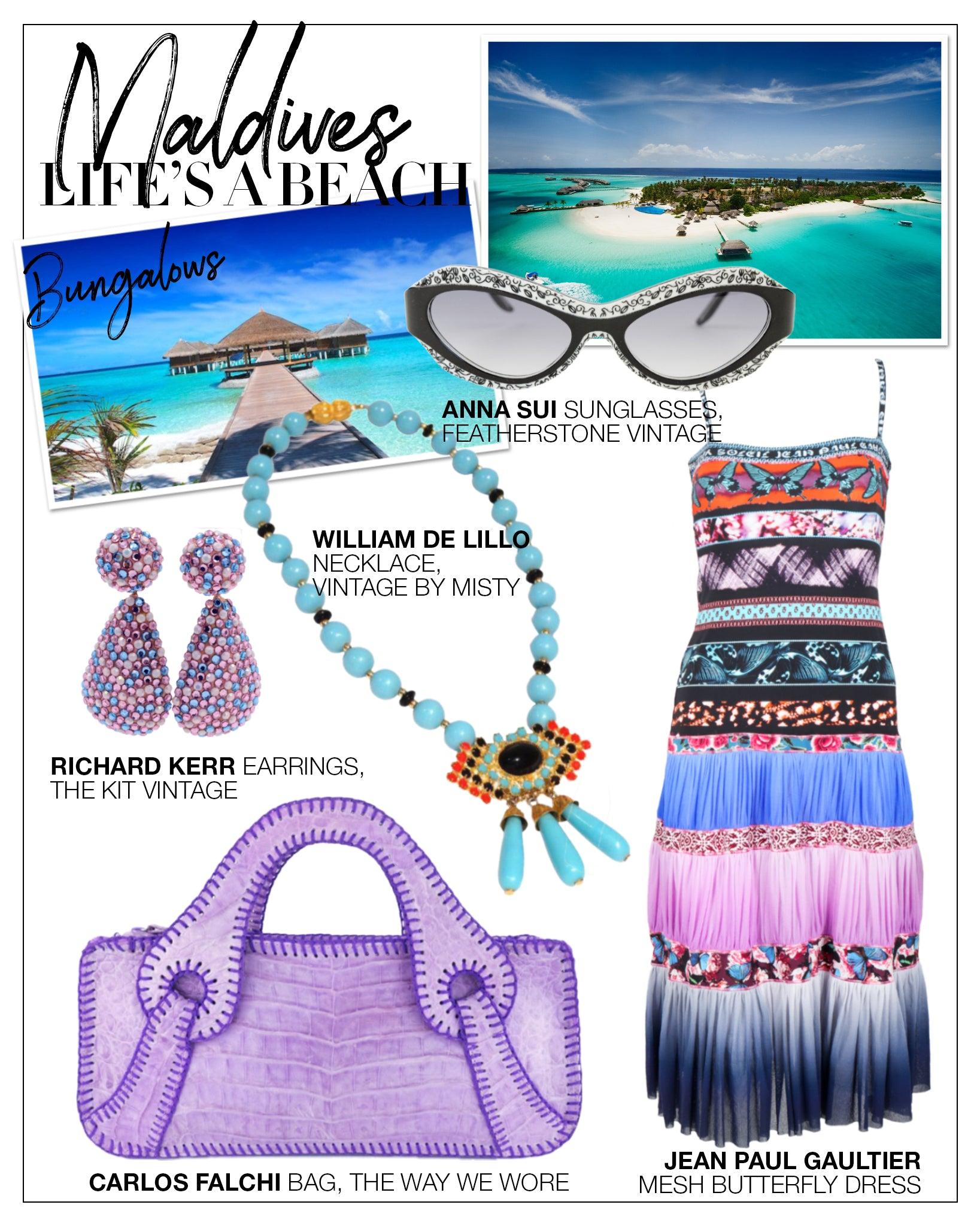 Recess DressCode Escapism Covid Quarantine Vacation Dreams Maldives John Paul Gaultier Mesh Dress