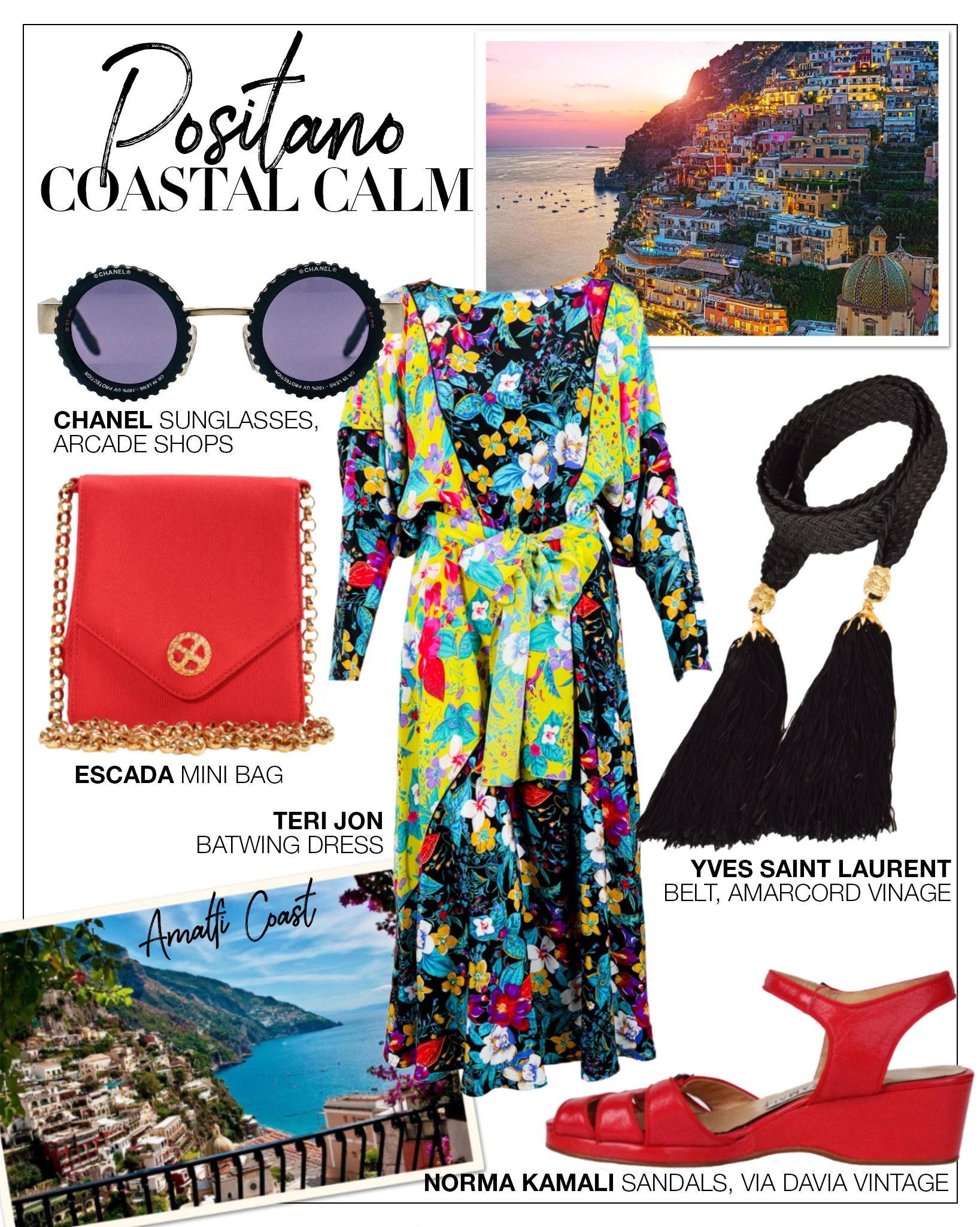 Recess DressCode Escapism Covid Quarantine Vacation Positano Coastal Teri Jon Batwing Dress