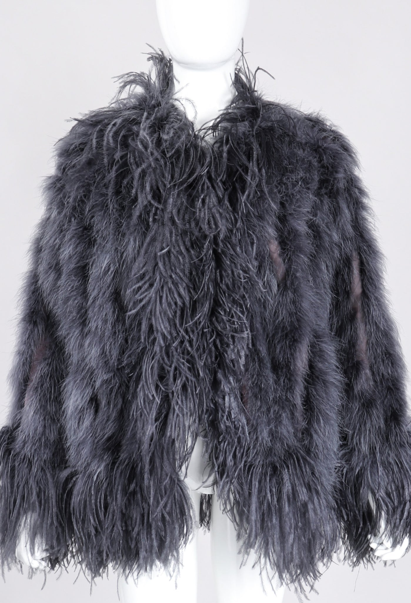 b14f8dc03d1 Dress Code Recess Los Angeles Yves Saint Laurent YSL Shock Liberation  Scandal Collection Feather Marabou Jacket